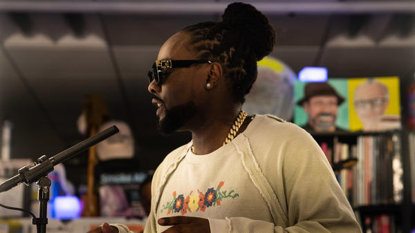 Wale performs a Tiny Desk concert on Oct. 30, 2019.