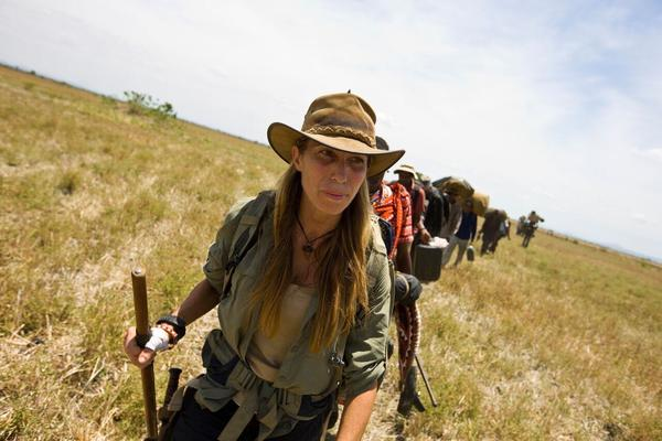 National Geographic explorer Mireya Mayor trekked nearly 1,000 miles during the filming of  Expedition Africa produced by Mark Burnett.