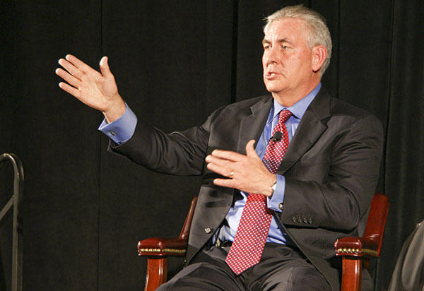 Former Secretary of State and Exxon Mobil CEO Rex Tillerson