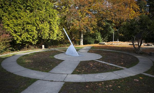 It is time to reset your clocks again this weekend, except for owners of sundials, like this one in Cowen Park in Seattle.
