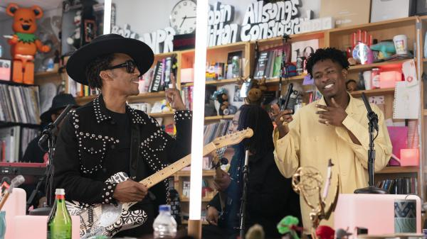 Raphael Saadiq with Lucky Daye performs during Tiny Desk Fest, on Oct. 31, 2019.