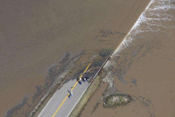 Flooding along South Platte River in Weld County, Colo. near Greeley, Sept. 2013.