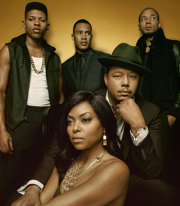 The stars of Fox's new drama <em>Empire</em> (clockwise from left): Bryshere Gray, Trai Byers, Jussie Smollett, Terrence Howard and Taraji P. Henson.