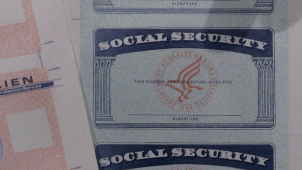 Stolen Social Security numbers can be used to create bogus documents like these, but also over the phone to open bank accounts or make purchases.
