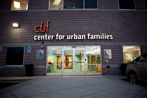 The Center for Urban Families in Baltimore (shown here on Nov. 11) is a nonprofit that provides job training, parenting programs and other help for low-income families.