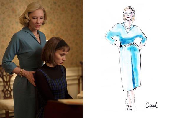Sandy Powell's sketches for the film <em>Carol.</em>