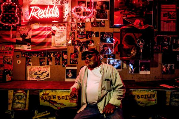 Red Paden in his juke joint in Clarksdale, Miss.