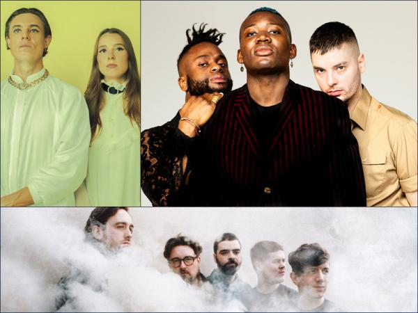 Clockwise from upper left: Confidence Man, Young Fathers, Hookworms