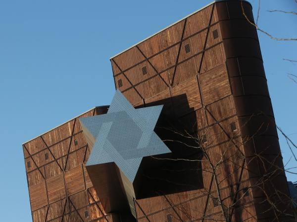 The long-delayed opening of the House of Fates Holocaust museum in Budapest, whose entrance is marked by a Star of David, is expected this spring.