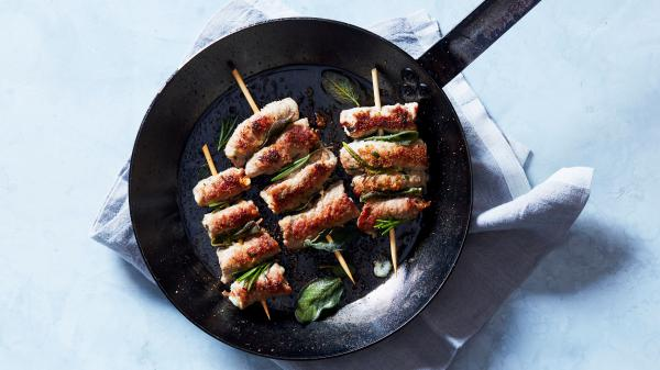 Veal braciolini from the cookbook, <em>Piatti: Plates and Platters for Sharing Inspired by Italy</em> by Stacy Adimando.