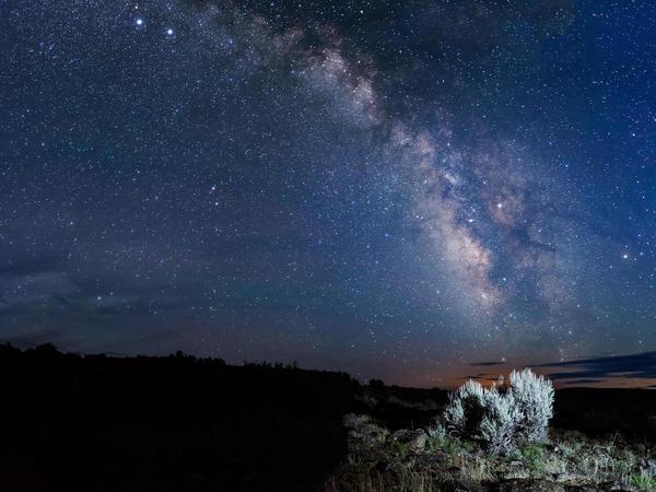 At the Massacre Rim Dark Sky Sanctuary, the Milky Way galaxy shines bright enough at night to cast shadows.
