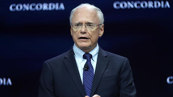 James Jeffrey speaks onstage during the 2019 Concordia Annual Summit last month in New York City. Jeffrey, the U.S. special representative for Syria, is scheduled to testify before members of the Senate Foreign Relations Committee Tuesday afternoon.