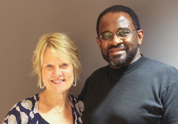 Former classmates Natalie Guice Adams and Eli Brown reconnected at StoryCorps, in Birmingham, Ala., earlier this month, where they talked about their school integrating for the first time.
