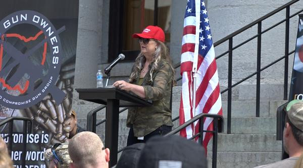 Rep. Candice Keller (R-Middletown) spoke at a pro-gun rally at the Statehouse in September.