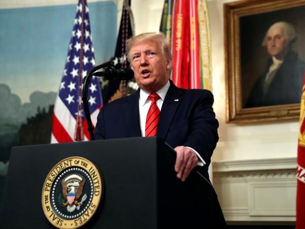"President Trump said on Sunday morning that capturing or killing Islamic State leader Abu Bakr al-Baghdadi has been ""the top national security priority"" of his administration. Above, Trump speaks in the Diplomatic Room of the White House on Sunday."