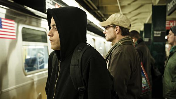 "<em>Mr. Robot</em> creator Sam Esmail says portraying Elliot (Rami Malek) in a hooded sweatshirt was a deliberate choice: ""That hoodie made us closer to who Elliot was."""