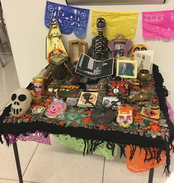 The Día de los Muertos altar in the <em>Alt.Latino</em> World Headquarters in Washington, D.C.