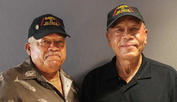 "Brothers Lebronze Davis, left, and Arguster Davis last month during their StoryCorps interview in Birmingham, Ala. ""Daddy taught us all how to do the right thing and wanted us to do the right thing,"" Lebronze says."