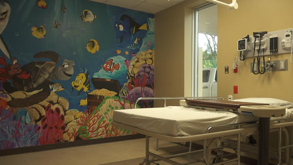 The Southwood ER has a room geared towards children's care.