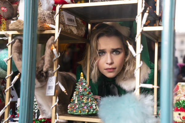 Emilia Clarke plays Kate, who works in a year-round Christmas goods store, in <em>Last Christmas</em>, directed by Paul Feig.