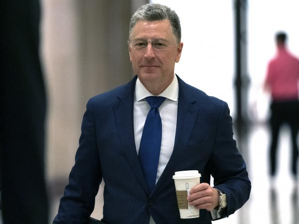Kurt Volker, a former special envoy to Ukraine, arrives for a closed-door interview with House investigators at the Capitol in Washington on Oct. 3.