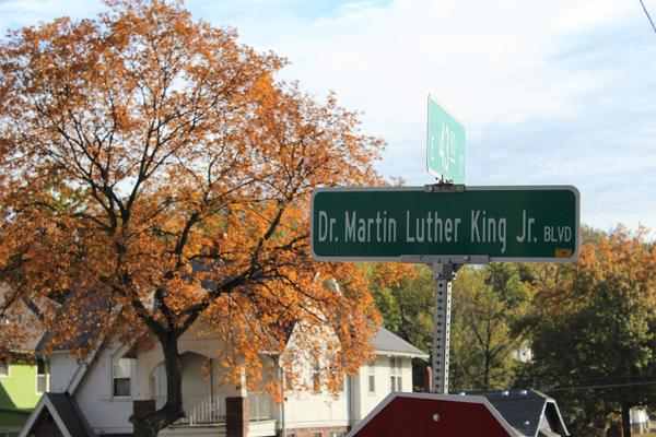 Signs reading 'Dr. Martin Luther King Jr. Boulevard' went up along what was formerly The Paseo earlier this year. Voters will decide in November whether to change the name back.