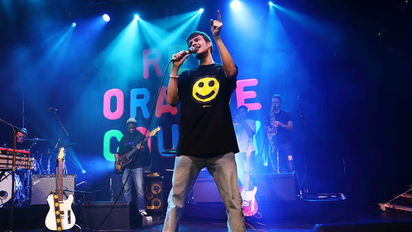 Rex Orange County, performing in London on February 20, 2018.