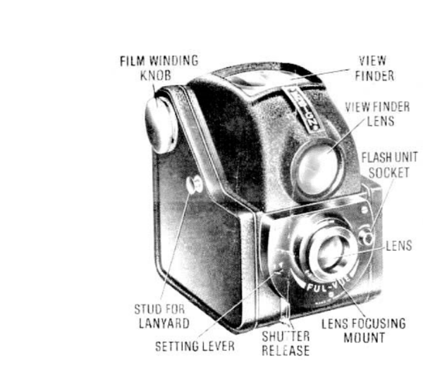 "The ""Brownie No. 2"" camera was produced by Eastman Kodak."