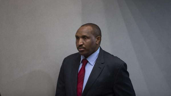 """Bosco Ntaganda, the former Congolese militia leader known as """"Terminator,"""" awaits his verdict Thursday in the courtroom of the International Criminal Court in The Hague, Netherlands. The warlord would ultimately be sentenced to 30 years in jail for war crimes in the early 2000s."""