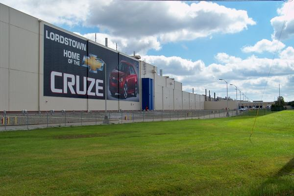 GM produced the Chevy Cruze at the Lordstown plant. It ended production at the plant in March.