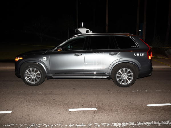 The self-driving Uber SUV that struck pedestrian Elaine Herzberg on March 18, 2018, in Tempe, Ariz.