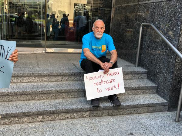 On July 1, protesters gathered in downtown Indianapolis to protest the rollout of Gateway to Work. Protesters delivered thousands of letters to Gov. Eric Holcomb asking him to halt the roll out of the work requirement.