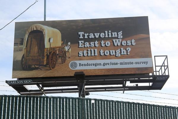 <p>The city of Bend rented this billboard on SE Wilson Avenue and 9th Street.</p>