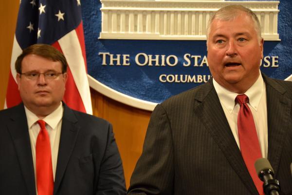 House Speaker Larry Householder (R-Glenford) with Senate President Larry Obhof (R-Medina)
