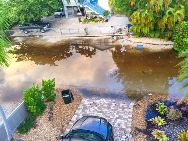 Some neighborhoods in the Keys are seeing persistent tidal flooding.