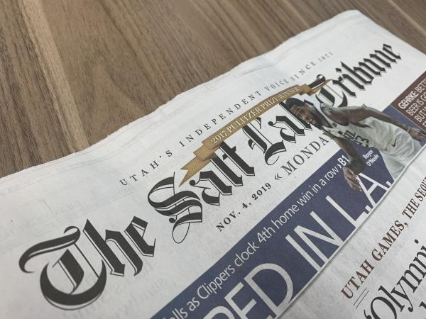 The Salt Lake Tribune announced Monday that it had received the required IRS approval to become a non-profit entity. It is the first legacy newspaper to become a non-profit.