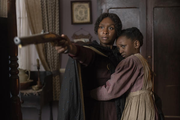 """Cynthia Erivo stars as Harriet Tubman and Aria Brooks as Anger (age 8) in """"Harriet,"""" a Focus Features release. (Glen Wilson/Focus Features)"""