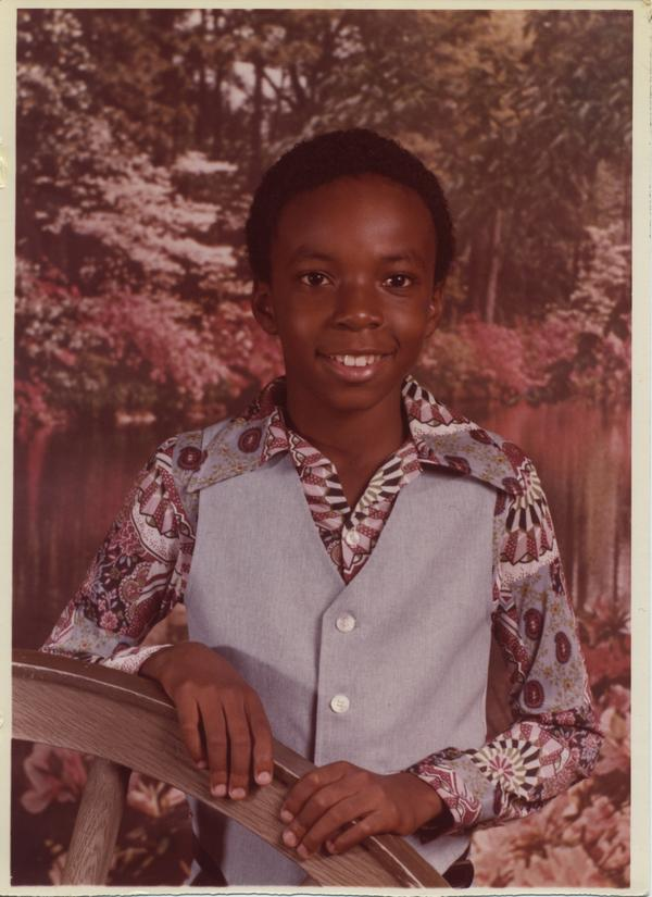 One of Ricky Moore's school photos.