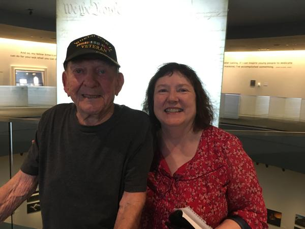 WWII vet Cecil Myers and his daughter, Linda Chaplin