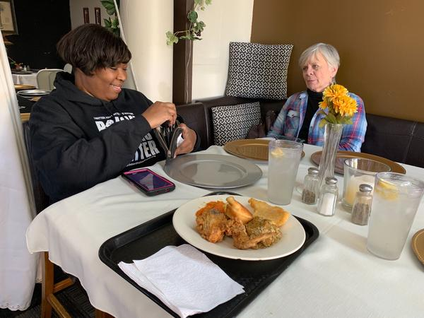 Cara McClure of Black Voters Matter and Dana Ellis of Moms Demand Action met at Z's Restaurant in Birmingham in November, 2019 to talk about Democratic political strategy in Alabama.
