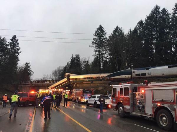 Amtrak Cascades train 501 derailed onto Interstate 5 on Dec. 18, 2017.