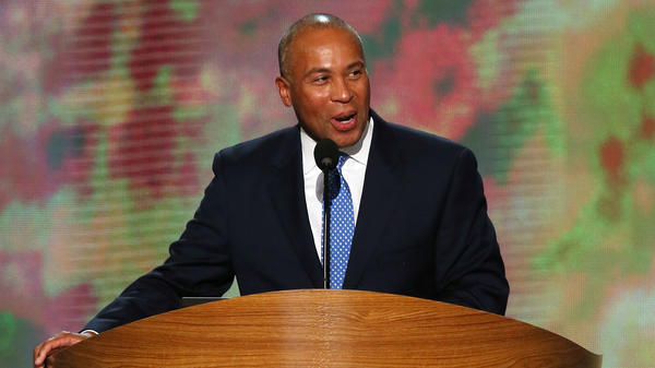 Then-Massachusetts Gov. Deval Patrick speaks at the 2012 Democratic National Convention in Charlotte, N.C. Deval has announced he will enter the 2020 presidential race.