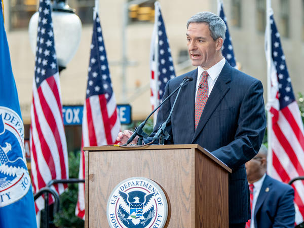Ken Cuccinelli had been considered President Trump's top choice to lead Homeland Security. Instead, he'll be the deputy to the new acting secretary, Chad Wolf.