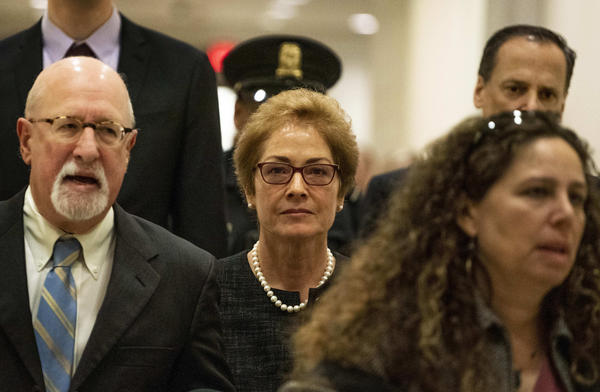 Former U.S. Ambassador to Ukraine Marie Yovanovitch arrives on Capitol Hill on Oct. 11 to appear before lawmakers in closed-door questioning related to the impeachment inquiry into President Trump.