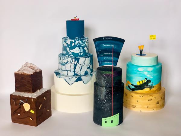 Rose McAdoo makes cakes based on research performed by her colleagues at Antarctica's McMurdo Station research base.