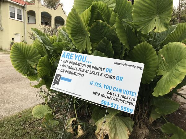 Voice of the Experienced - an advocacy organization for formerly incarcerated persons, uses yard signs and other outreach efforts to inform people of the new law.