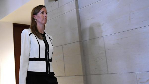 Jennifer Williams, a special adviser to Vice President Pence for Europe and Russia, sat for a closed-door deposition on Capitol Hill on Nov. 7.
