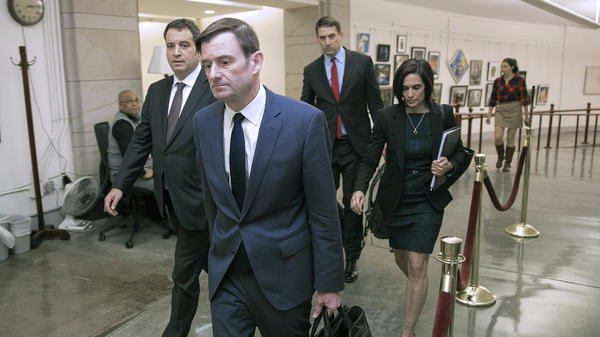 Under Secretary of State for Political Affairs David Hale departs the U.S. Capitol after giving a closed-door deposition to the House committees conducting the impeachment inquiry into President Trump on Nov. 6.