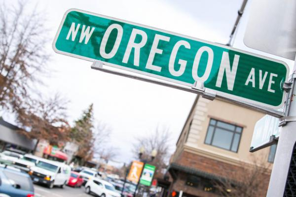 <p>Downtown in Bend, Oregon, Friday, March 17, 2017.</p>
