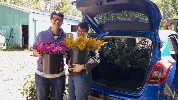 Many people, like Rosealie and Katie are opting for locally grown, seasonal flowers for weddings and other special events.